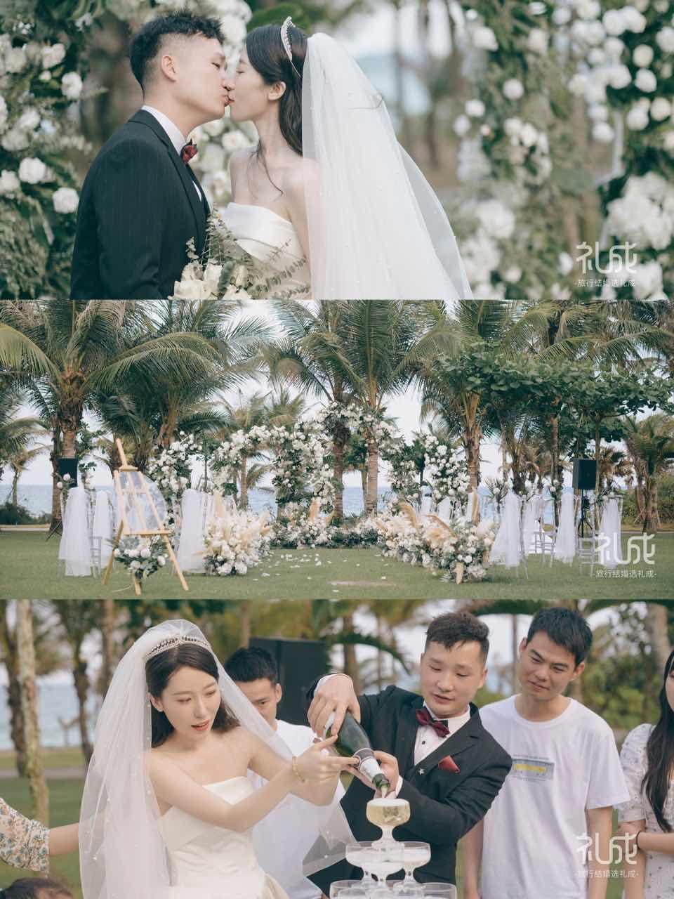 仪式感满满,而且不贵!参考一下三亚婚礼
