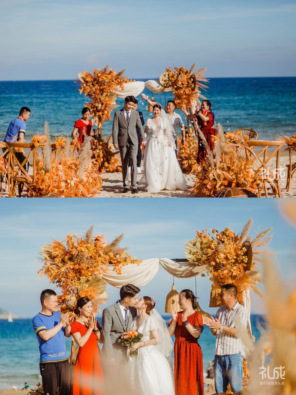 带父母去旅行结婚!教科书级别的婚礼模板