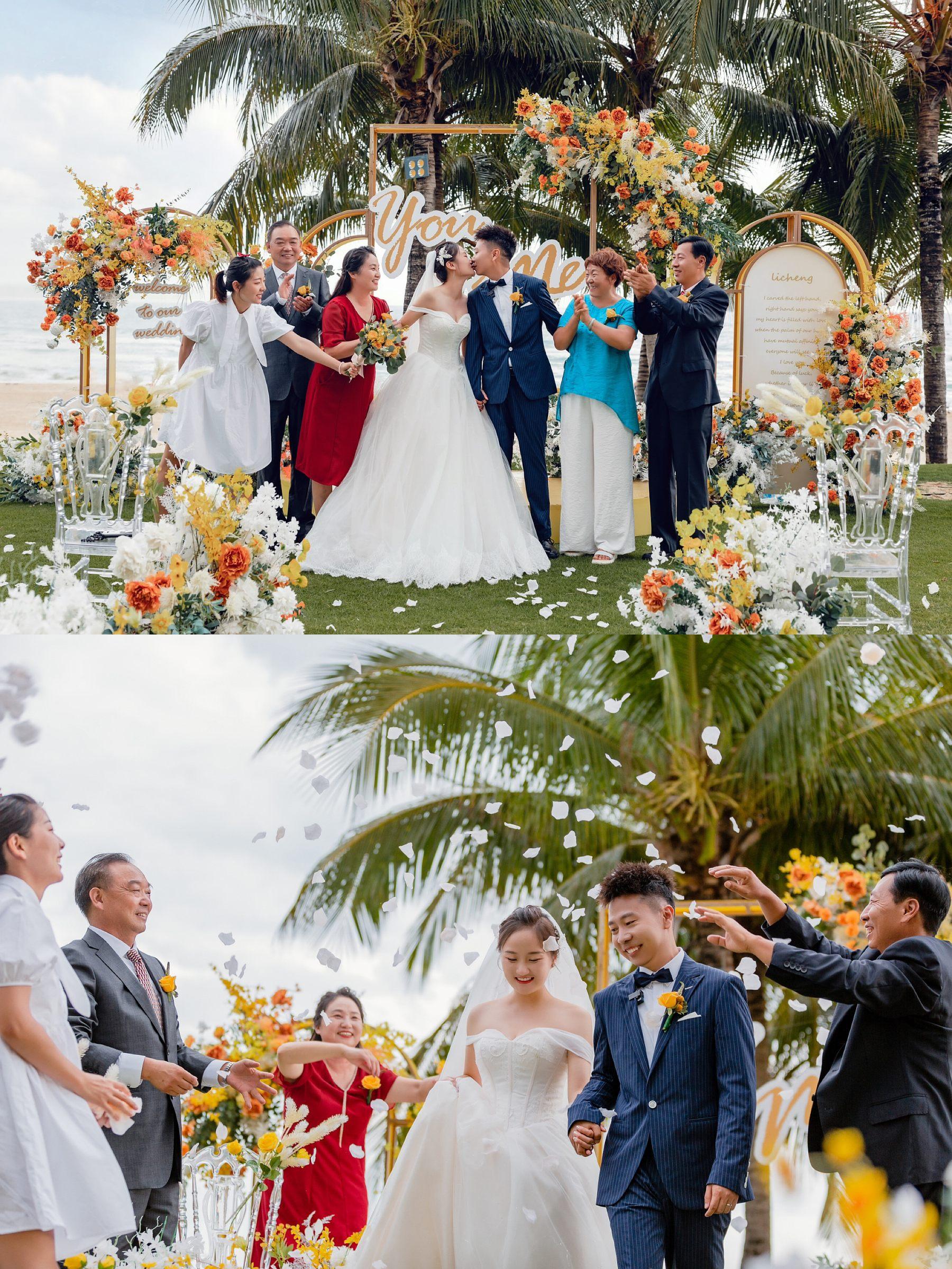 晚婚少女终于也办了梦中的婚礼,三亚婚礼yyds